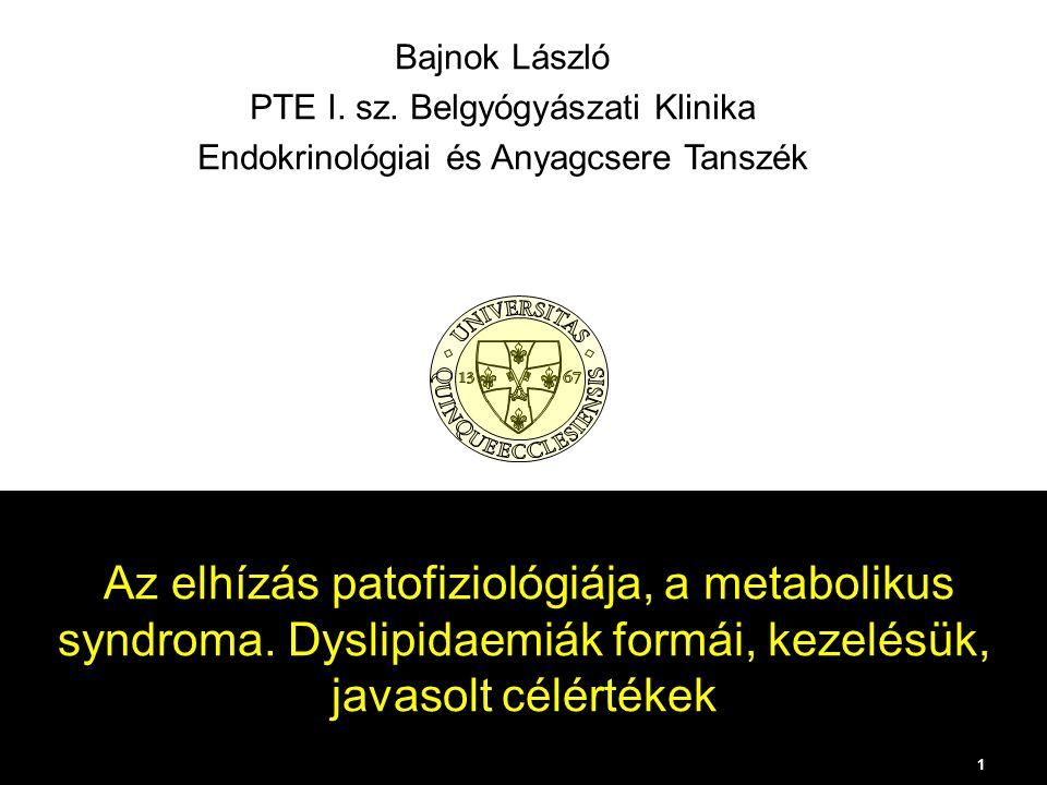 Az elhízás patofiziológiája, a metabolikus syndroma.