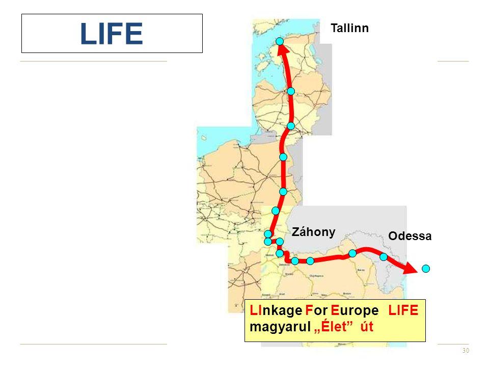 """30 Tallinn Odessa Záhony LInkage For Europe LIFE magyarul """"Élet"""" út LIFE"""