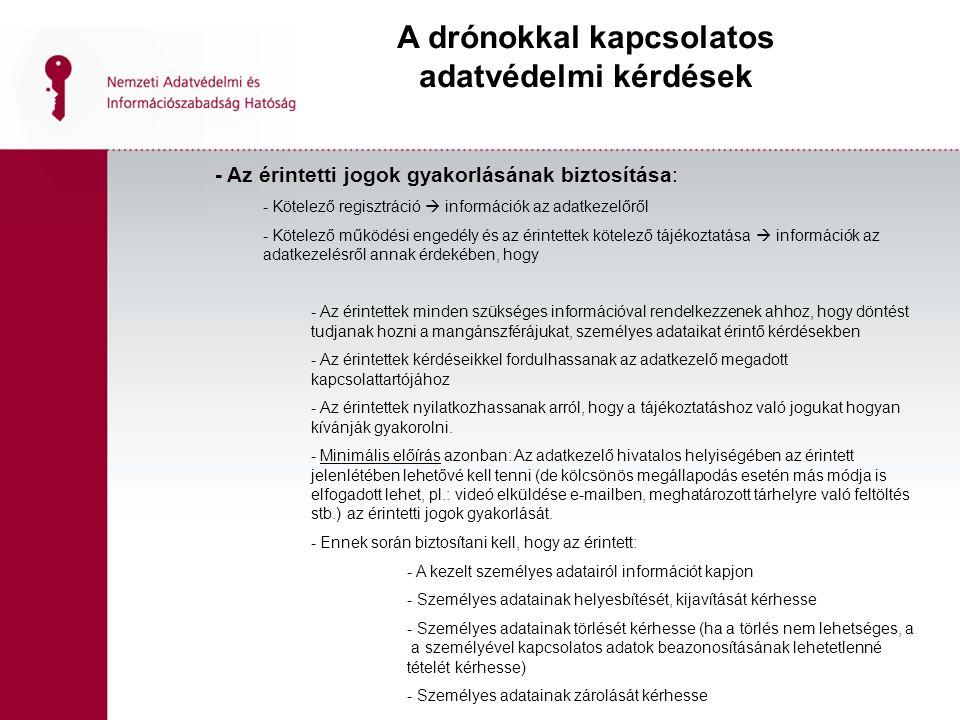 Biometrikus adatkezelések