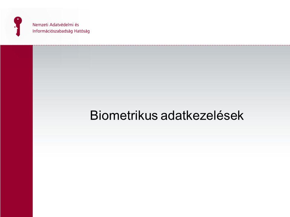 """Biometrikus technológia robbanásszerű terjedése Pro érvek –egyszerű, pontos és költséghatékony –egyénspecifikus –gyors és megbízható Technikai fejlődés → olcsóbb → magánszektor """"A kéz mindig kéznél van Beavatkozása magánszférába Leggyakoribb → beléptető rendszer A biometrikus adatok már a spájzban vannak?"""