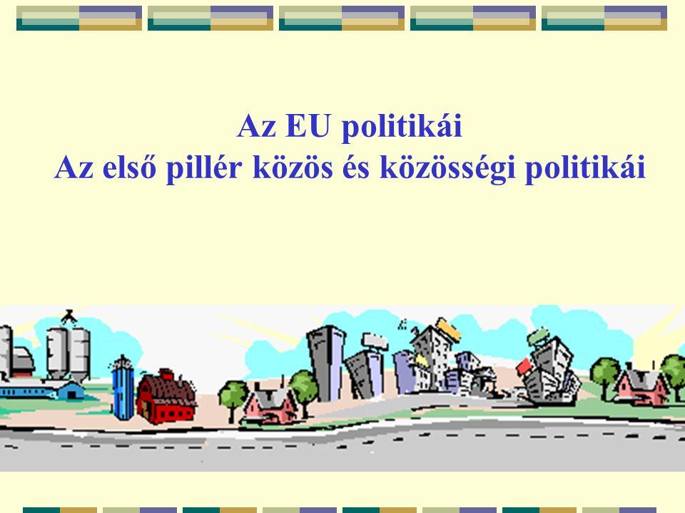 Az EU politikái Az első pillér közös és közösségi politikái