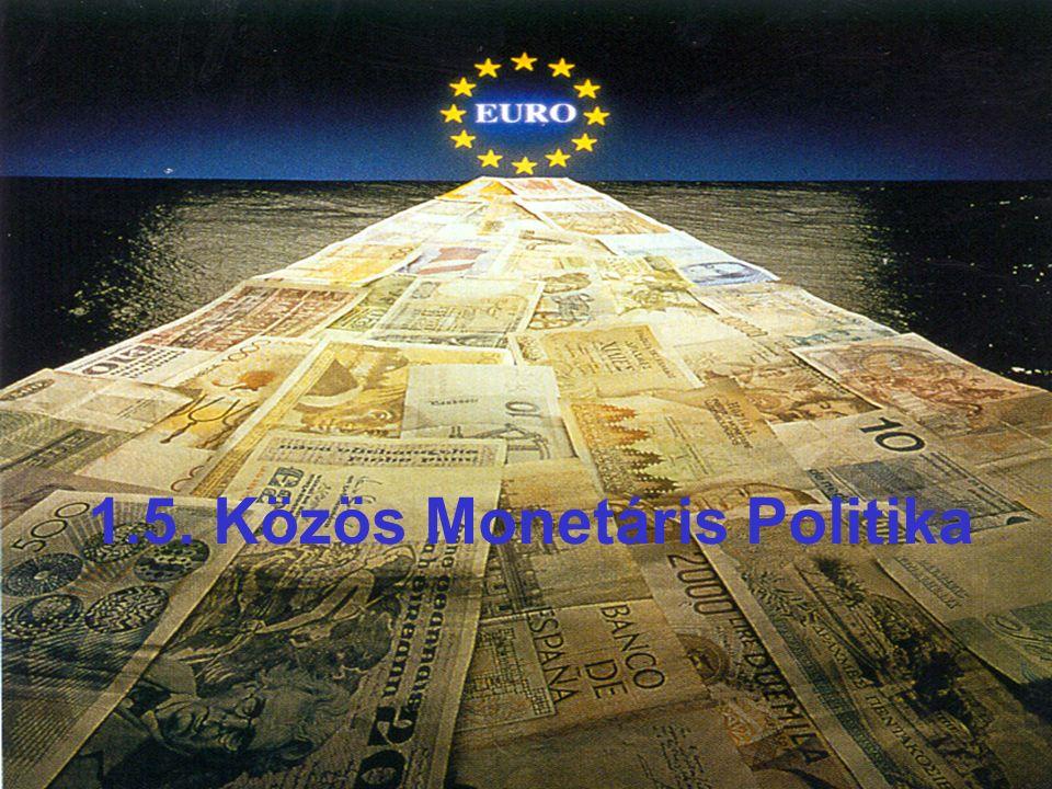 5. Közös monetáris politika 1.5. Közös Monetáris Politika