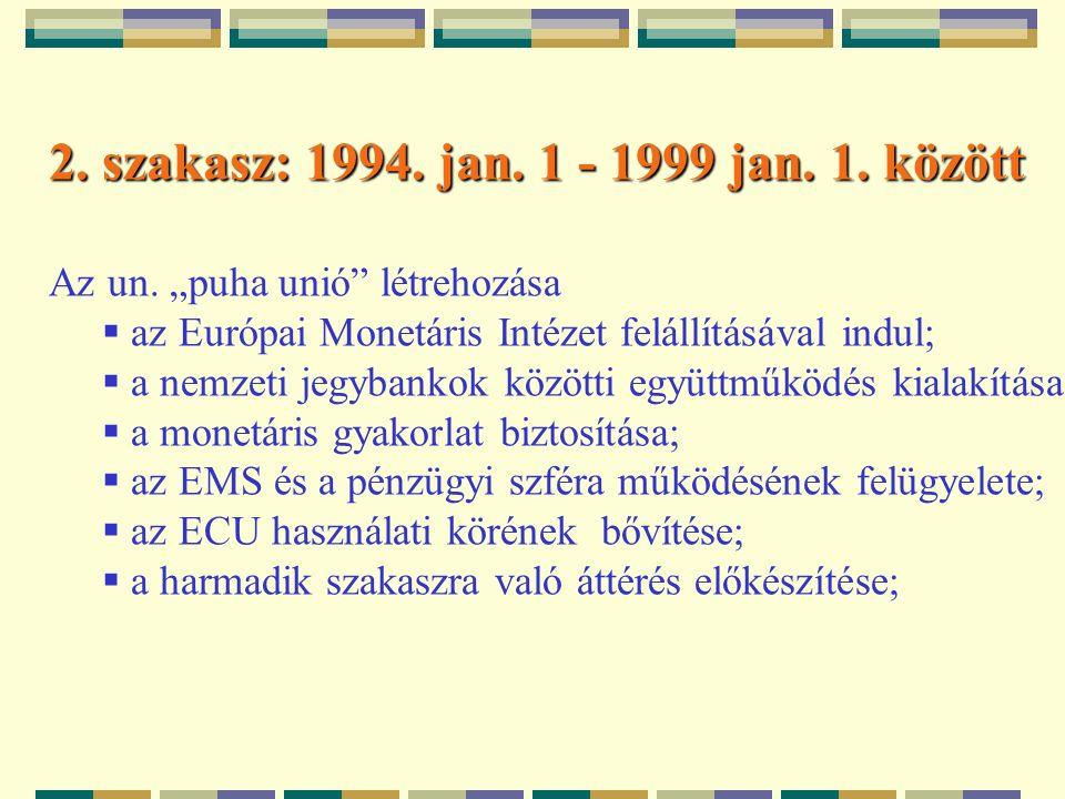 2. szakasz: 1994. jan. 1 - 1999 jan. 1. között Az un.