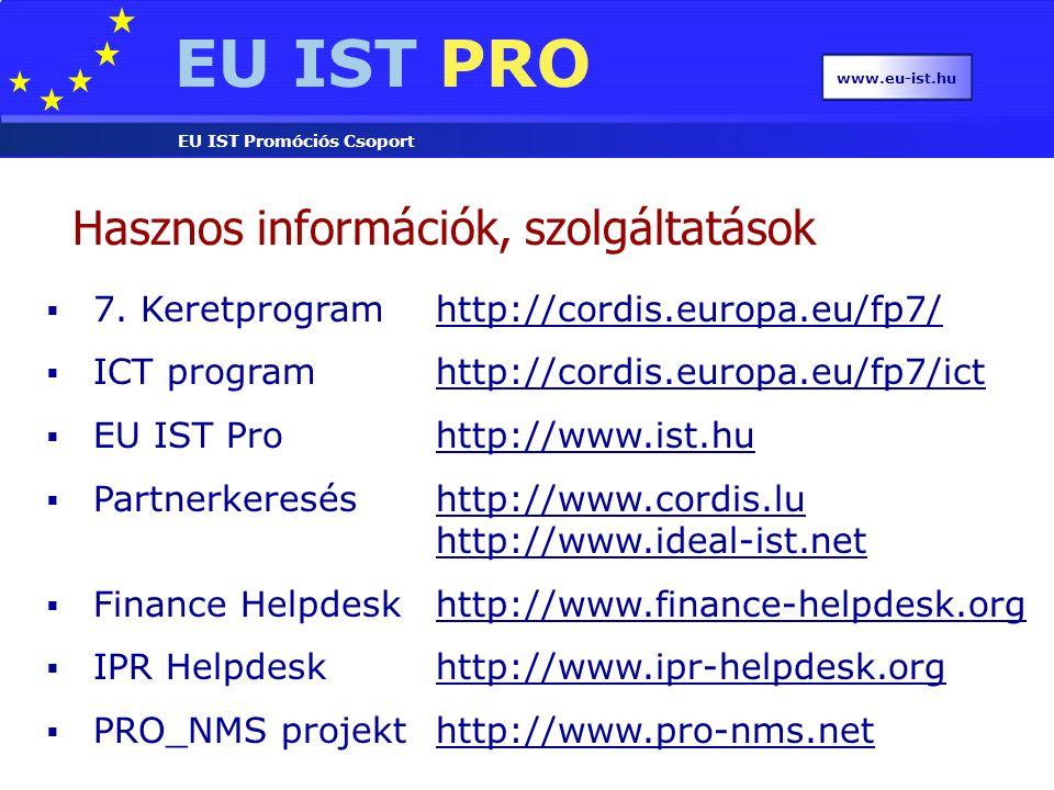EU IST PRO EU IST Promóciós Csoport www.eu-ist.hu  7.