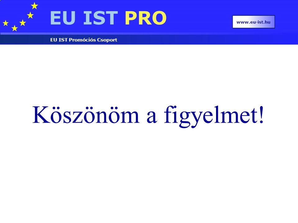 EU IST PRO EU IST Promóciós Csoport www.eu-ist.hu Köszönöm a figyelmet!