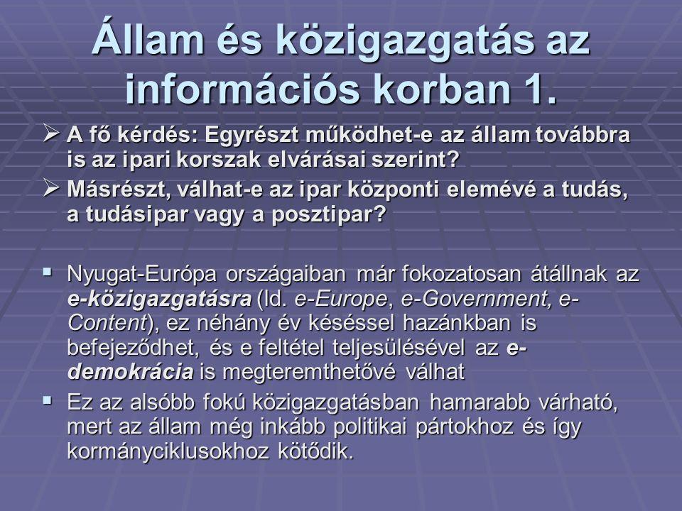 Állam és közigazgatás az információs korban 1.