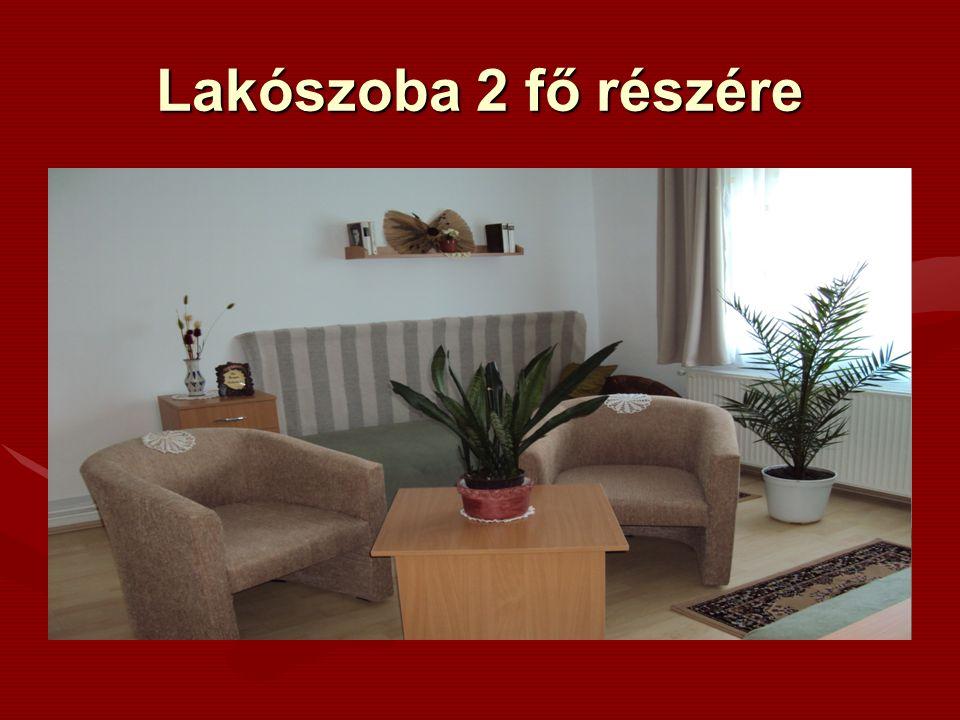 Lakószoba 2 fő részére