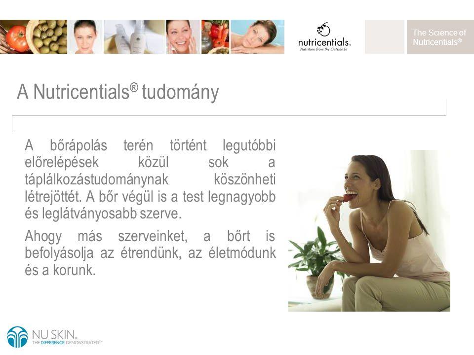The Science of Nutricentials ® A bőrápolás terén történt legutóbbi előrelépések közül sok a táplálkozástudománynak köszönheti létrejöttét. A bőr végül