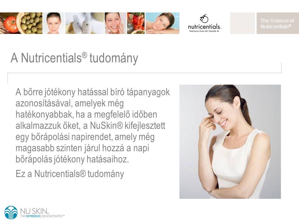 The Science of Nutricentials ® A bőrre jótékony hatással bíró tápanyagok azonosításával, amelyek még hatékonyabbak, ha a megfelelő időben alkalmazzuk