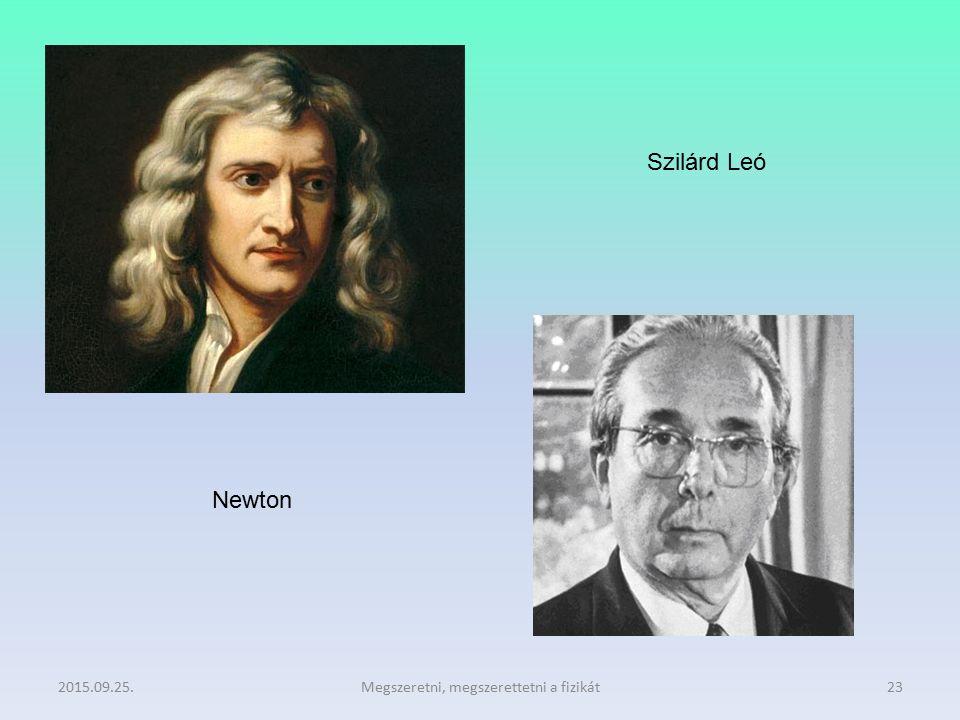 2015.09.25.Megszeretni, megszerettetni a fizikát23 Newton Szilárd Leó