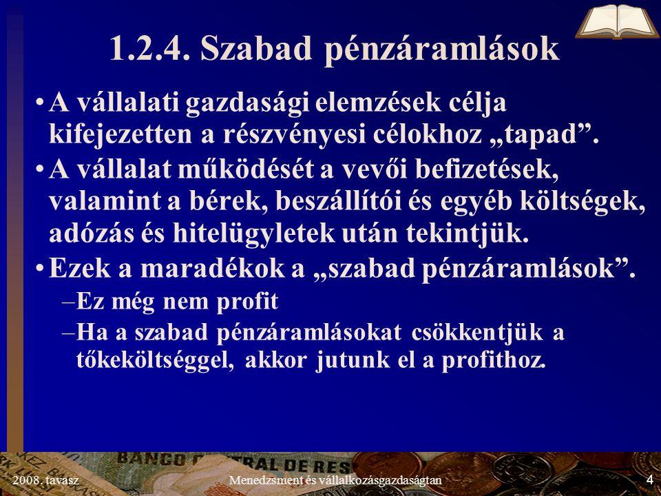 2008. tavasz4Menedzsment és vállalkozásgazdaságtan 1.2.4.
