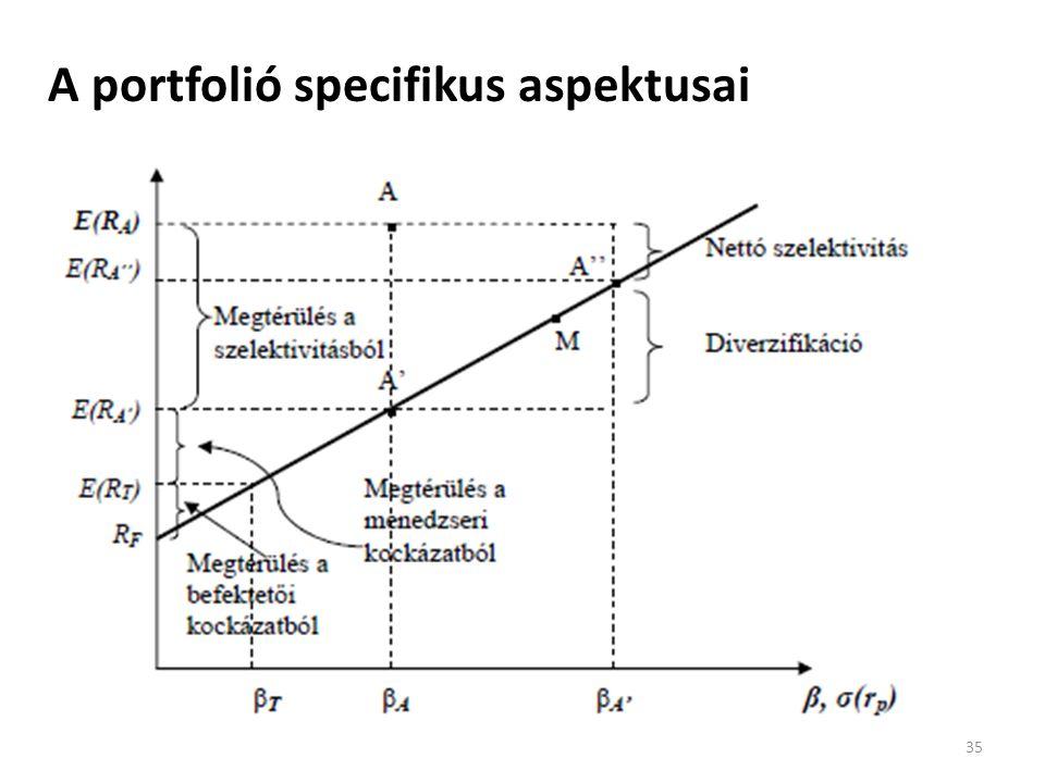 A portfolió specifikus aspektusai 35