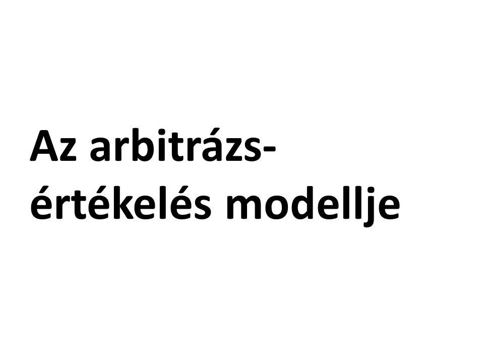 Az arbitrázs- értékelés modellje