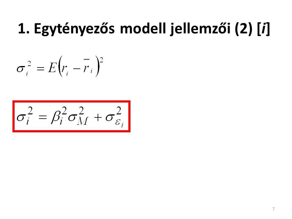 Példa 48 Példaként feltételezzük, hogy a GNP faktor bétája 1,2, az infláció faktor bétája 0,8.