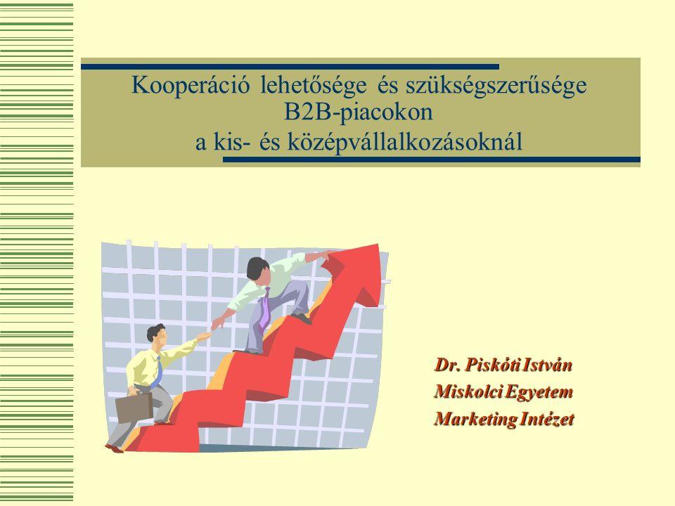 Kooperáció lehetősége és szükségszerűsége B2B-piacokon a kis- és középvállalkozásoknál Dr.