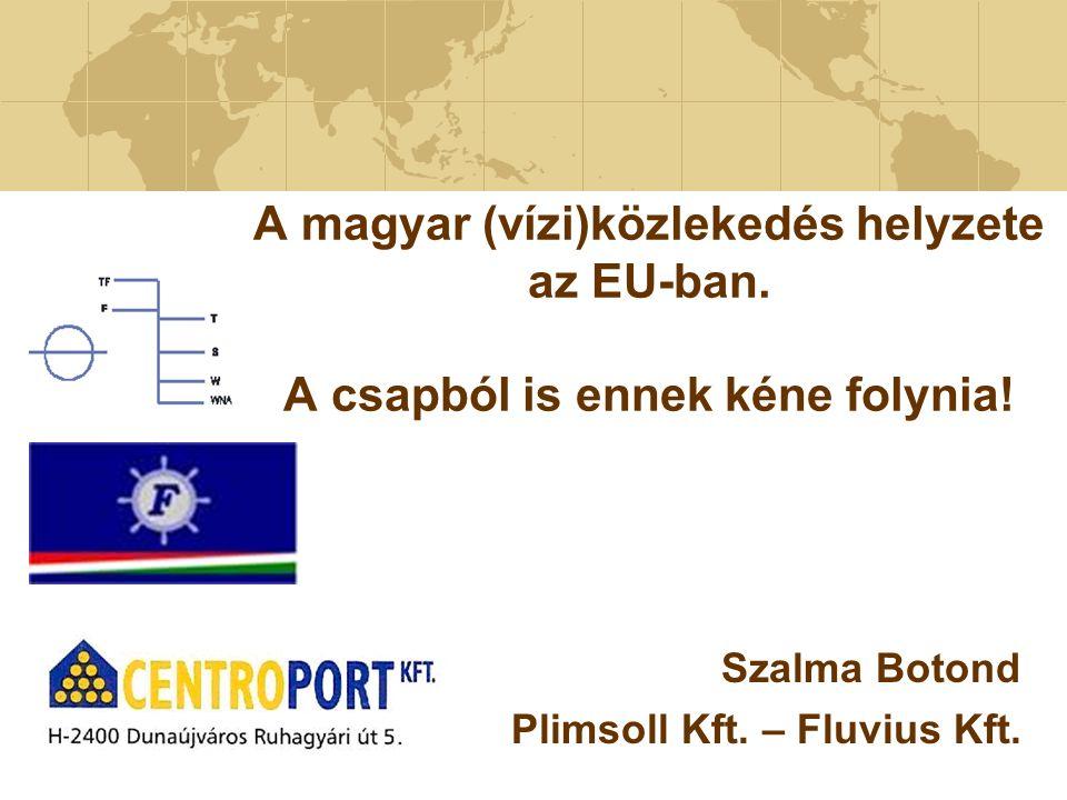 A magyar (vízi)közlekedés helyzete az EU-ban. A csapból is ennek kéne folynia! Szalma Botond Plimsoll Kft. – Fluvius Kft.