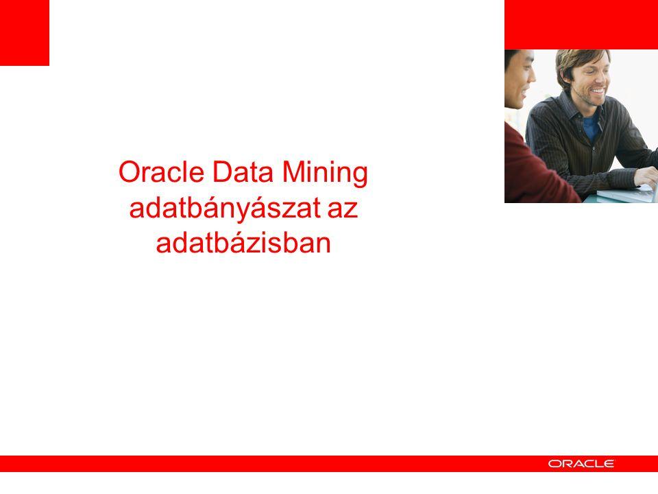 Oracle Data Mining adatbányászat az adatbázisban