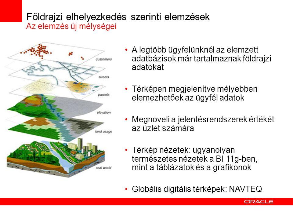 Földrajzi elhelyezkedés szerinti elemzések Az elemzés új mélységei A legtöbb ügyfelünknél az elemzett adatbázisok már tartalmaznak földrajzi adatokat