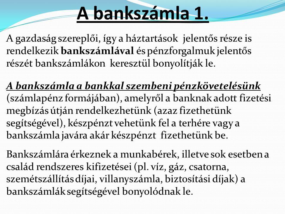 A bankszámla 1.