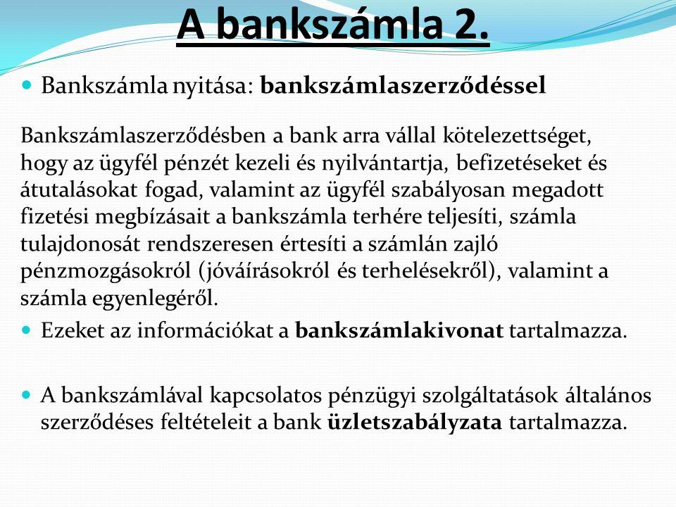 A bankszámla 2.