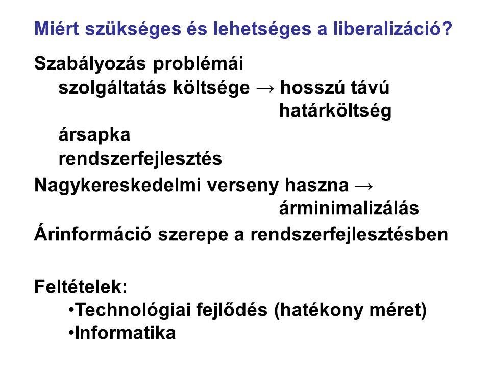 Miért szükséges és lehetséges a liberalizáció.