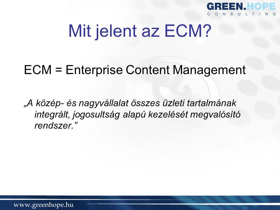 Mit jelent az ECM.