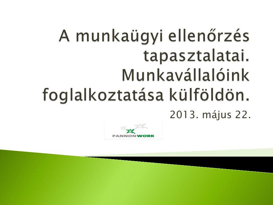  Csak a külföldi munkára (alakult) de Magyarországon bejegyzett cég.