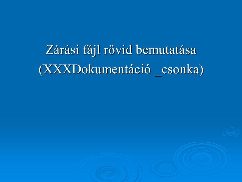 Zárási fájl rövid bemutatása (XXXDokumentáció _csonka)