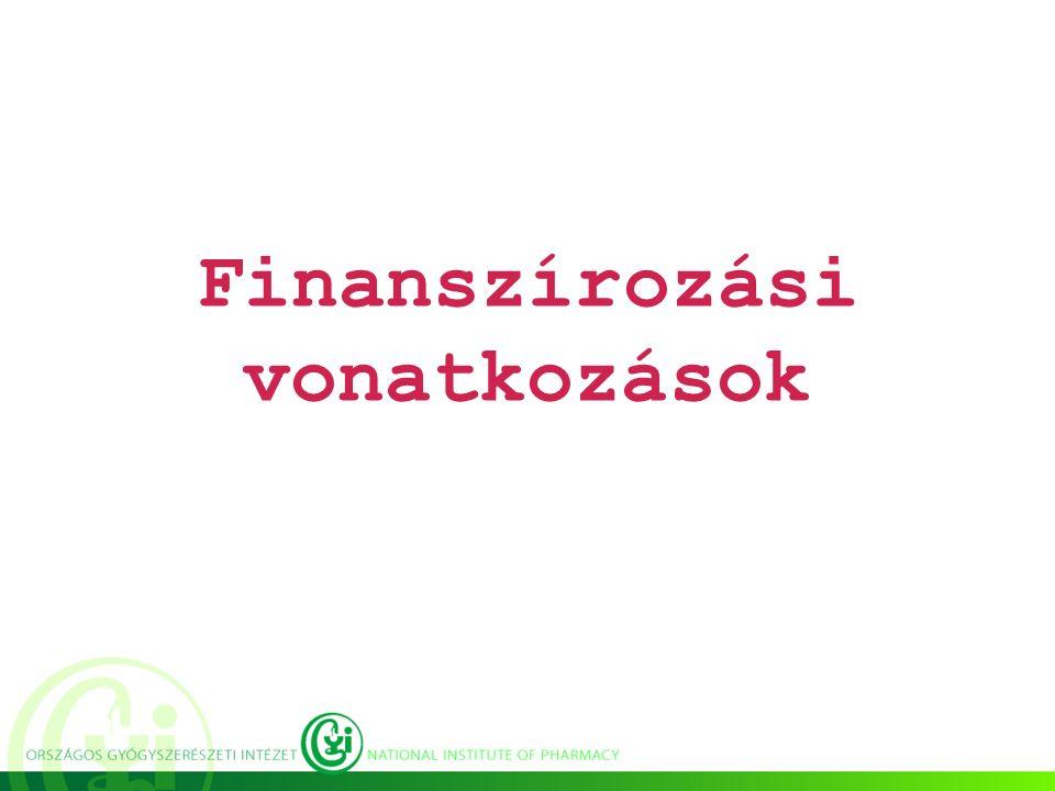 Finanszírozási vonatkozások