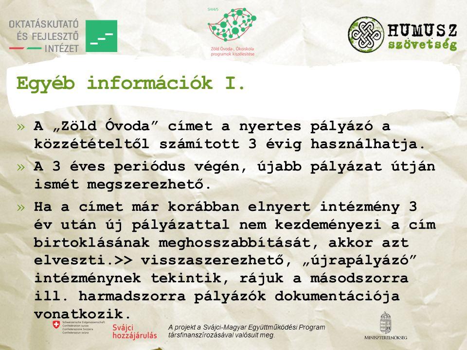 Egyéb információk I.