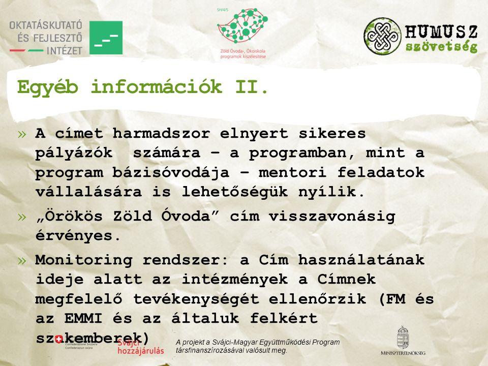 Egyéb információk II.