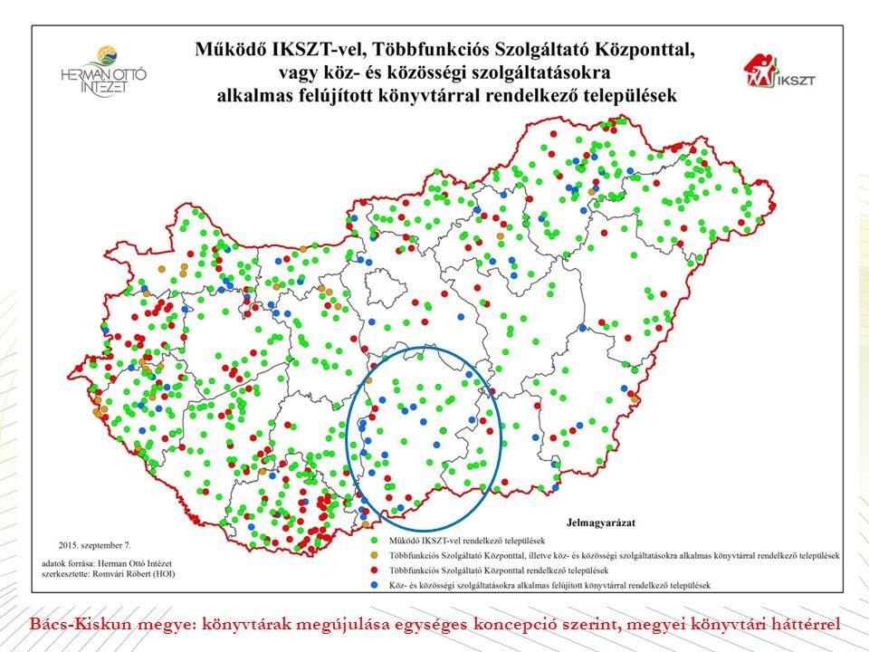 Bács-Kiskun megye: könyvtárak megújulása egységes koncepció szerint, megyei könyvtári háttérrel