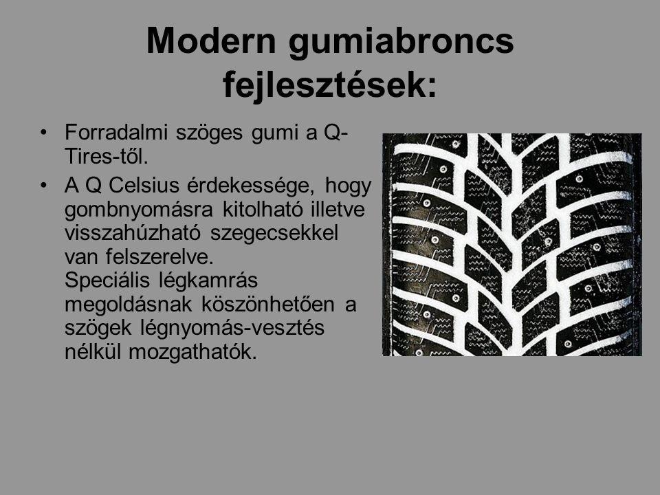 Modern gumiabroncs fejlesztések: Forradalmi szöges gumi a Q- Tires-től.