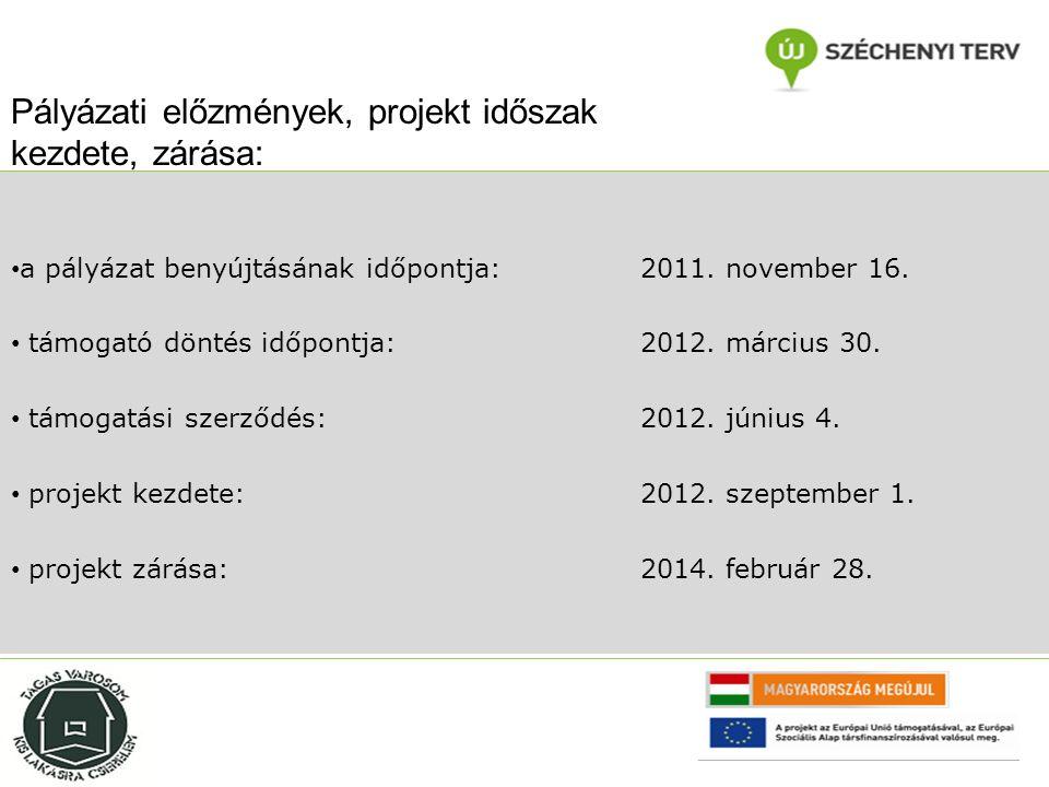 a pályázott összeg: 104.785.133 HUF a pályázaton elnyert forrás:97.096.482 HUF projektünk elsődleges célja, konzorciális partnerséget kialakítva Győr és Mosonmagyaróvár közterületein és intézményi keretein belül élő hajléktalan személyek lakhatási szubvencionálása, az egyéni és csoportos szociális munka módszereinek alkalmazásával projektünk másodlagos célja a lakhatás biztosítása és a párhuzamosan zajló humán- szolgáltatások együttes hatásaként rövid és hosszú távon tartós fizikai és mentális állapotjavulást érjünk el projektbe bevont személyek esetében Pályázati előzmények, a projekt általános célja: