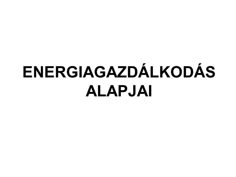 ENERGIAGAZDÁLKODÁS ALAPJAI