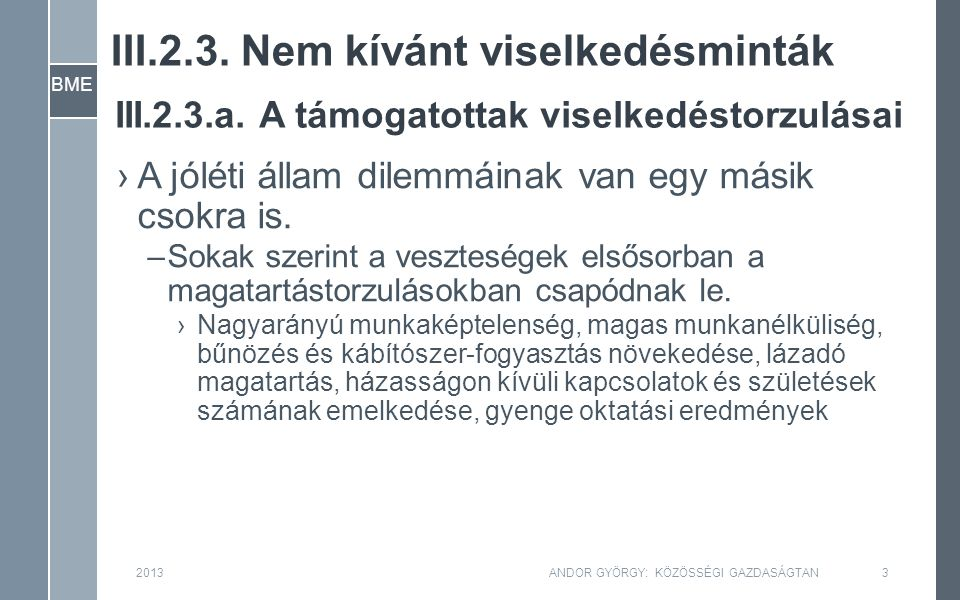 BME IV.1.