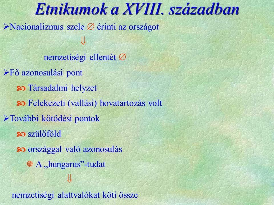 Etnikumok a XVIII.