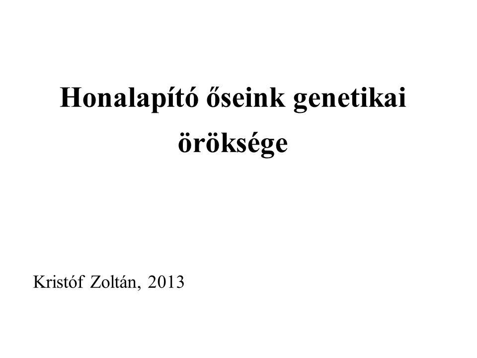 Honalapító őseink genetikai öröksége Kristóf Zoltán, 2013