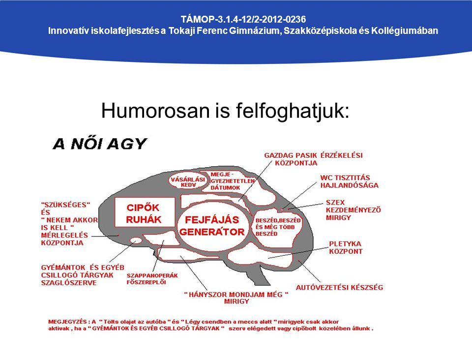 Humorosan is felfoghatjuk: TÁMOP-3.1.4-12/2-2012-0236 Innovatív iskolafejlesztés a Tokaji Ferenc Gimnázium, Szakközépiskola és Kollégiumában