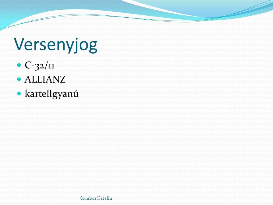 Versenyjog C-32/11 ALLIANZ kartellgyanú Gombos Katalin