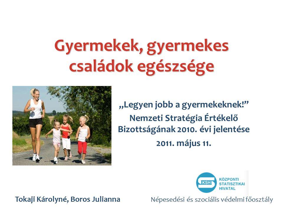 """Gyermekek, gyermekes családok egészsége """"Legyen jobb a gyermekeknek! Nemzeti Stratégia Értékelő Bizottságának 2010."""