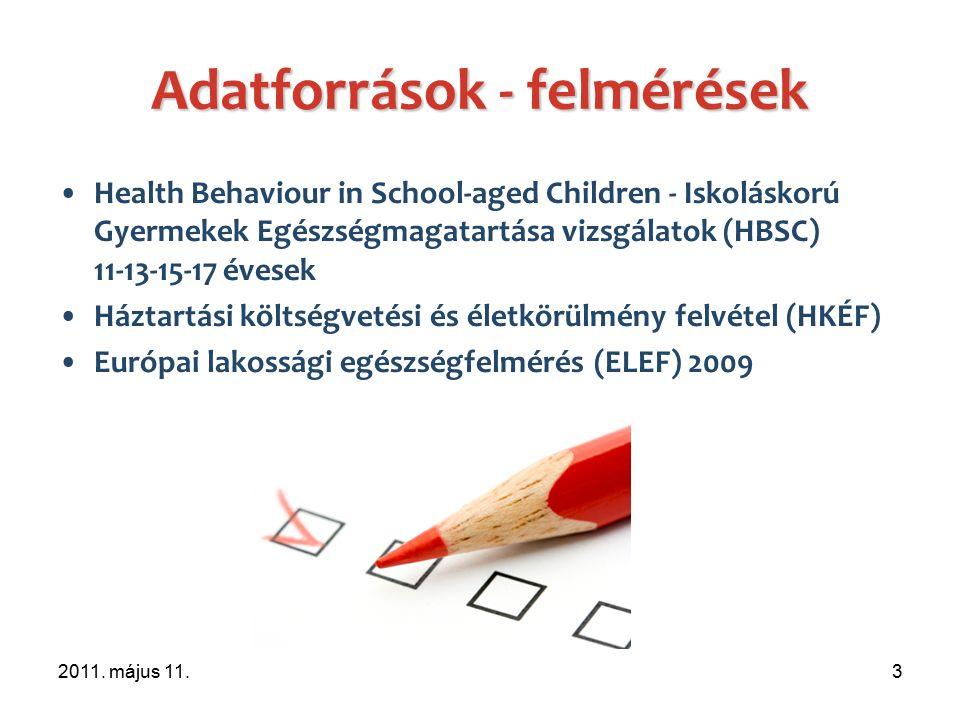 Egészségmagatartást befolyásoló tényezők A táplálkozás, dohányzás, fizikai aktivitás, dentálhigiéné szoros összefüggésben áll a család jómódúságával illetve az iskolatípussal.
