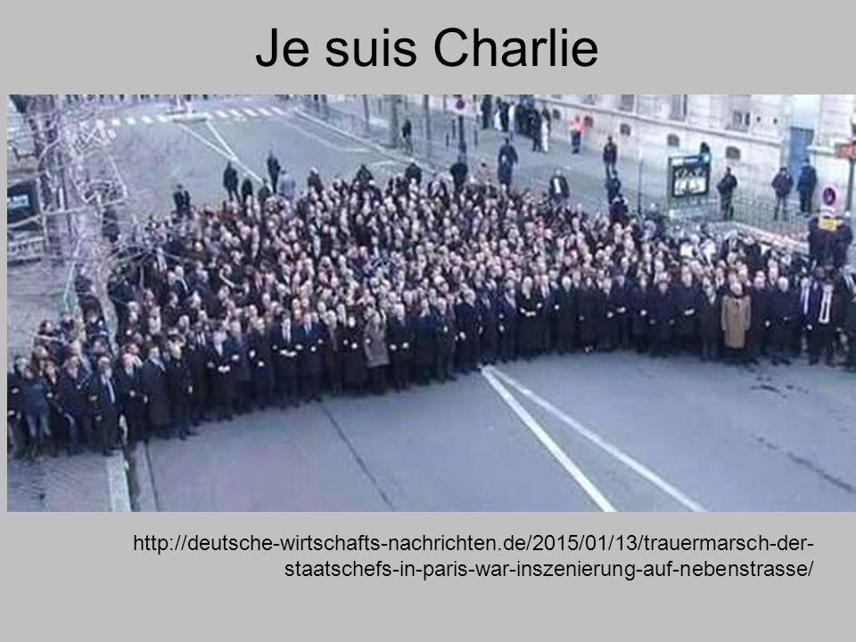 Je suis Charlie http://deutsche-wirtschafts-nachrichten.de/2015/01/13/trauermarsch-der- staatschefs-in-paris-war-inszenierung-auf-nebenstrasse/
