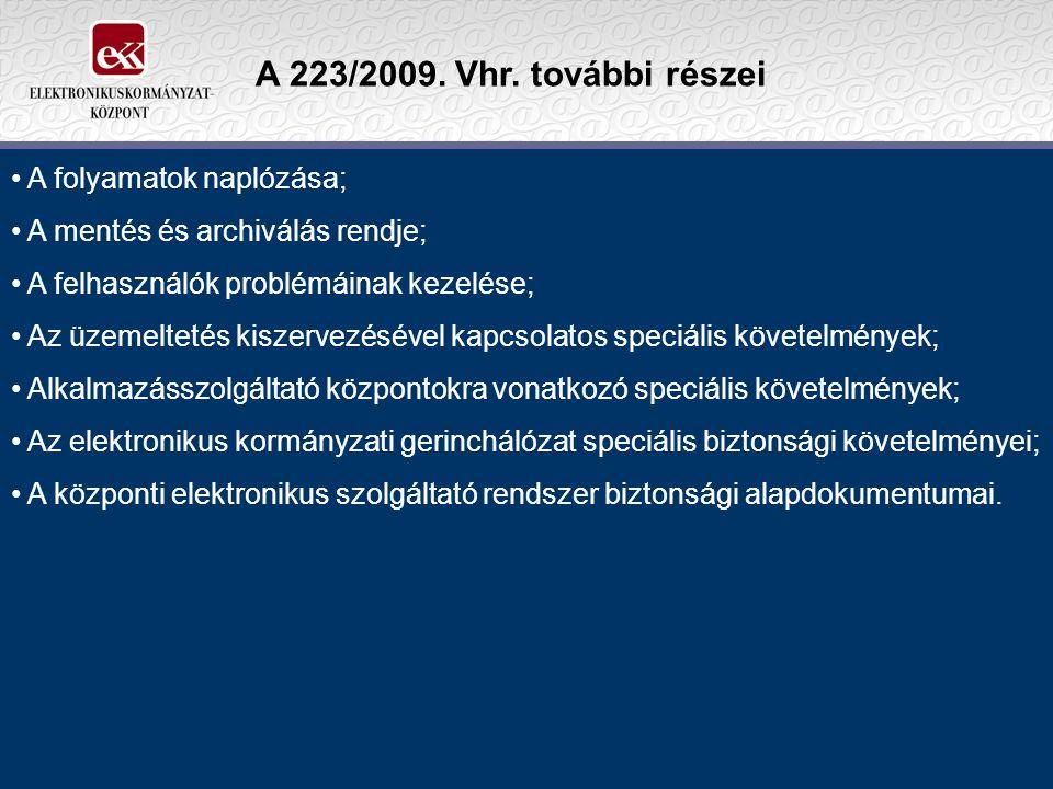 A 223/2009. Vhr.