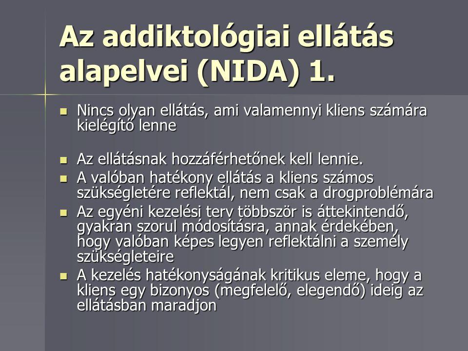 Az addiktológiai ellátás alapelvei (NIDA) 1.
