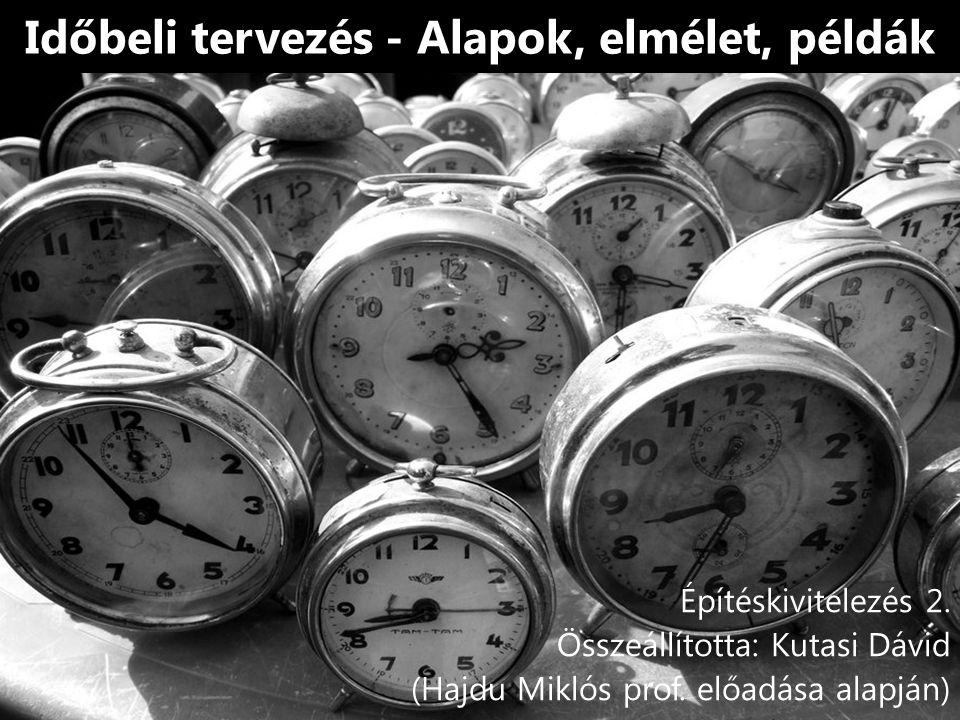 Időbeli tervezés - Alapok, elmélet, példák Építéskivitelezés 2.