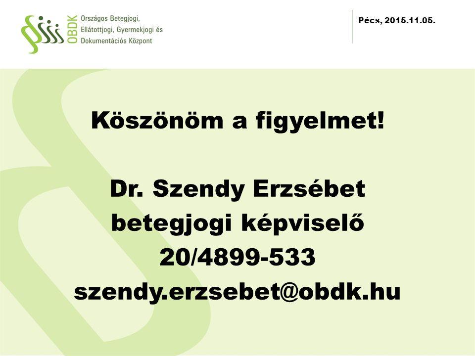 2012.11.30. Köszönöm a figyelmet. Dr.