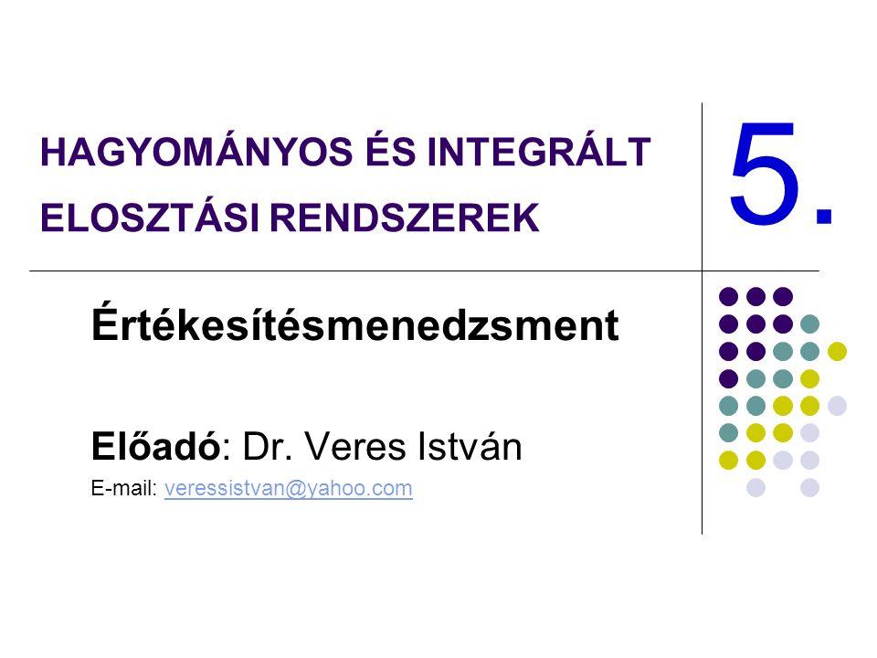 HAGYOMÁNYOS ÉS INTEGRÁLT ELOSZTÁSI RENDSZEREK Értékesítésmenedzsment Előadó: Dr.