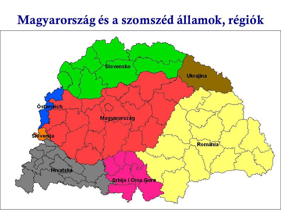 Magyarország és a szomszéd államok, régiók