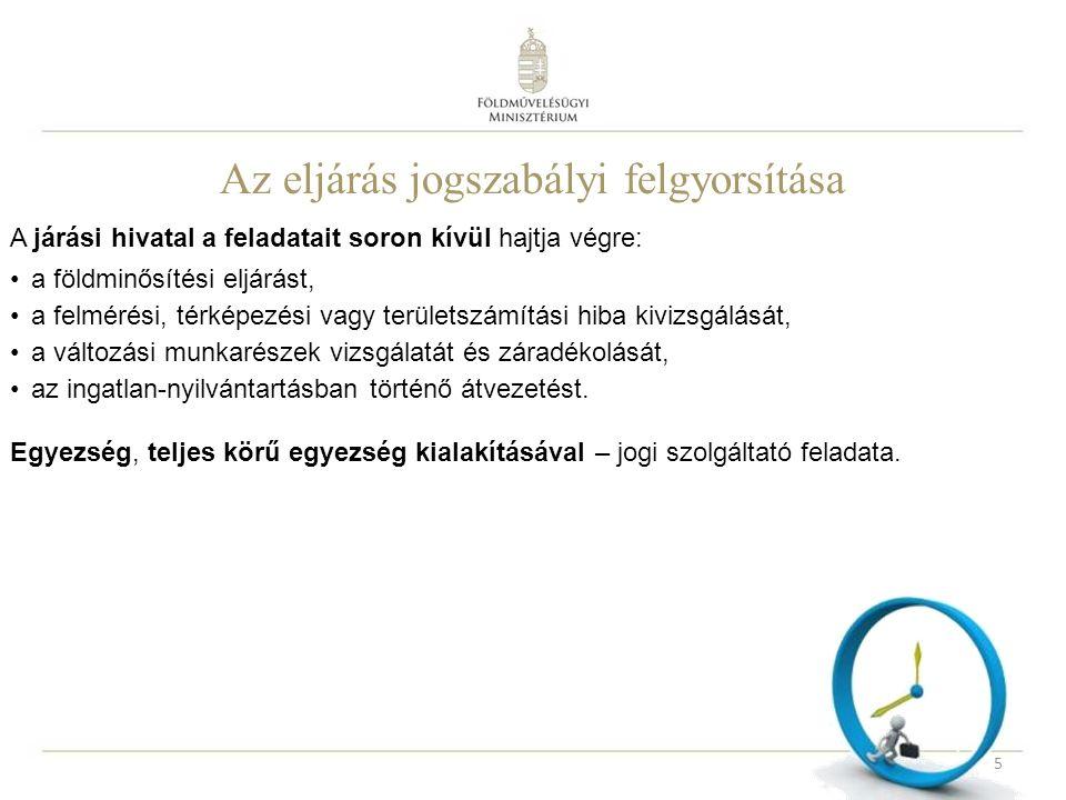 1.A járási hivatal által befejezendő eljárások Végrehajtás a 63/2005.